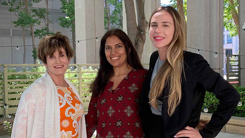 Anne Gadd Grandy, Seema Manchanda and Kimberly Hergenrader are among those who have returned to the workforce with Visa