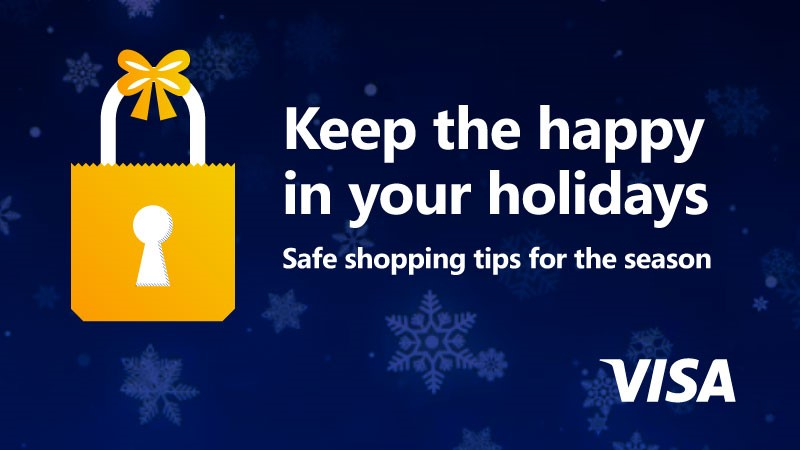 Image showing Keep the happy in your holidays. Safe shopping tips for the season.