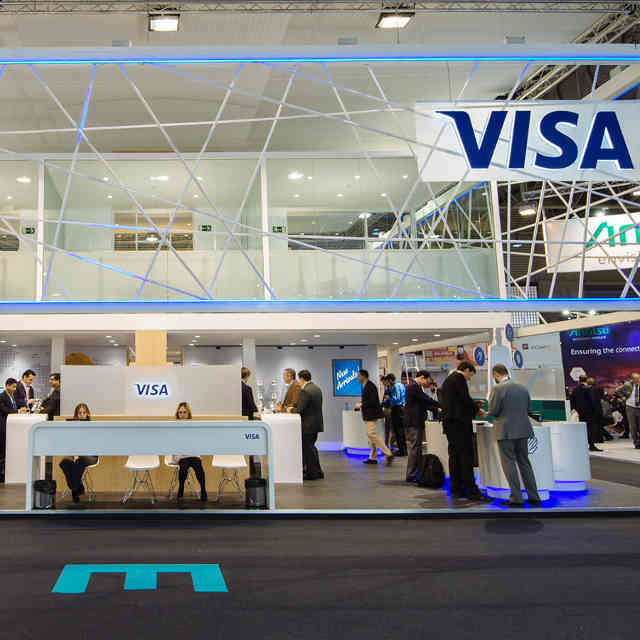 Visa booth at Mobile World Congress 2016