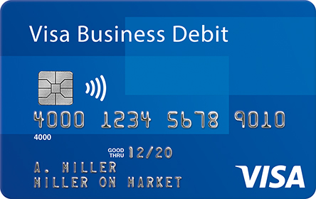 an image of Visa Business Debit card