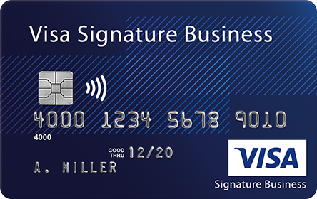 an image of Visa Business Signature card