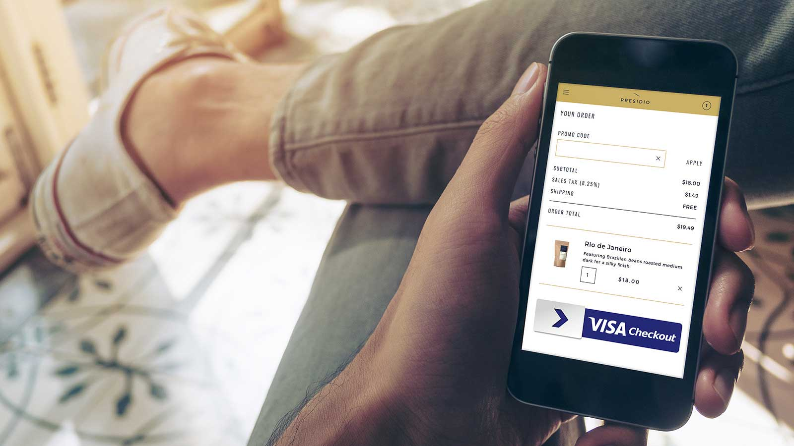 visa checkout through phone