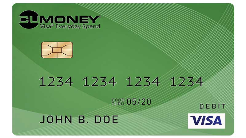 CUMONEY® Visa® Everyday Spend Prepaid Card