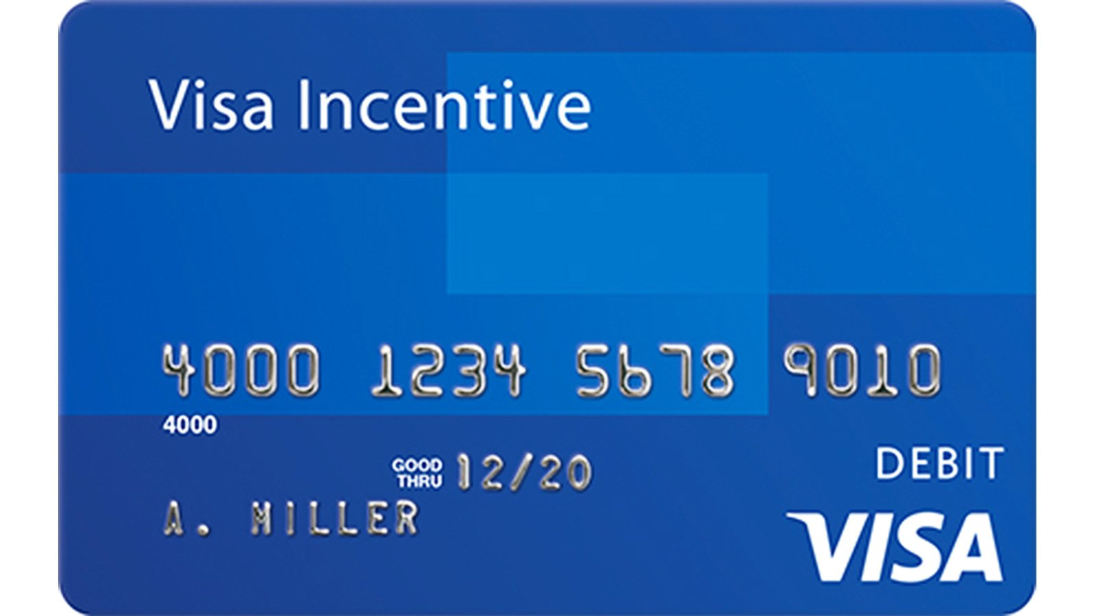 Visa Incentive card sample.