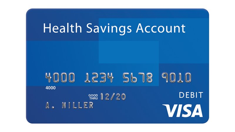 Visa Health Savings Account debit card.