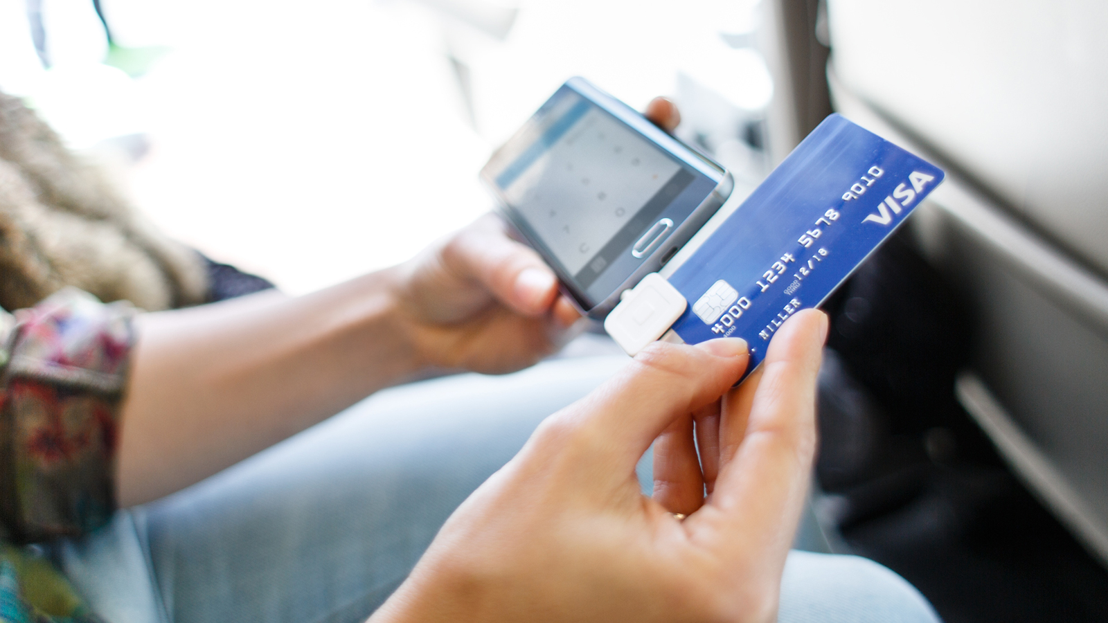 Square payment using Visa card