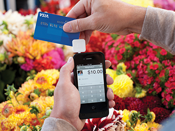 Making purchase via square on mobile phone
