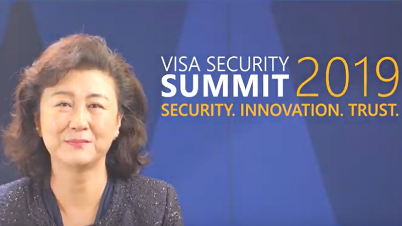 Visa Employee talking about Visa Asia Pacific security summit.