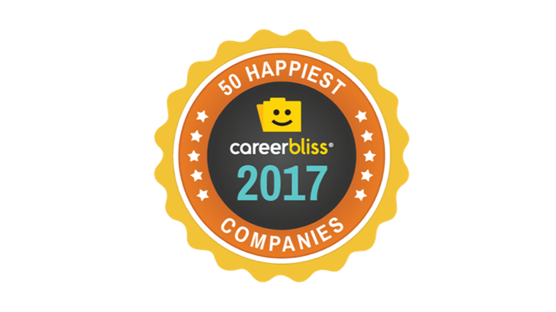 Career Bliss 50 Happiest Companies 2017 logo
