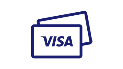 Illustration of 2 Visa credit cards one on another.