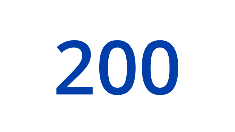 An illustration of the number 200.