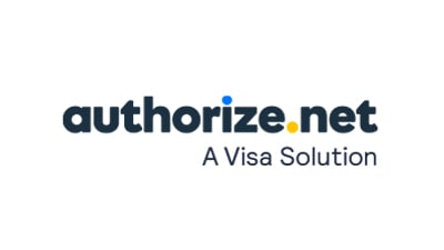 Authorize.net logo with the caption