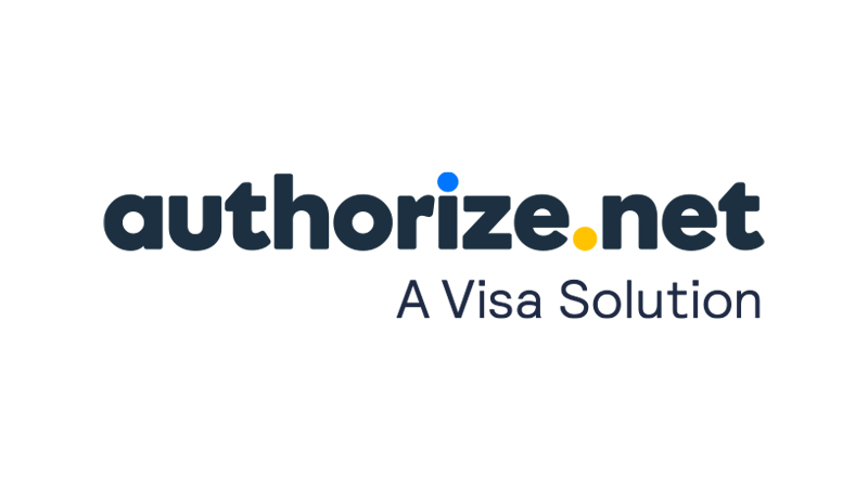 "Authorize.net logo with the caption ""A Visa Solution""."