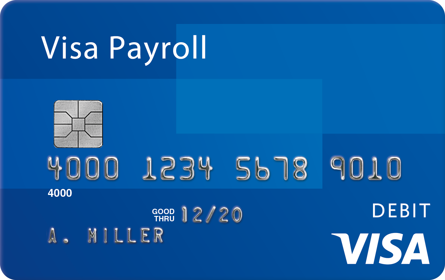 Visa Payroll chip card