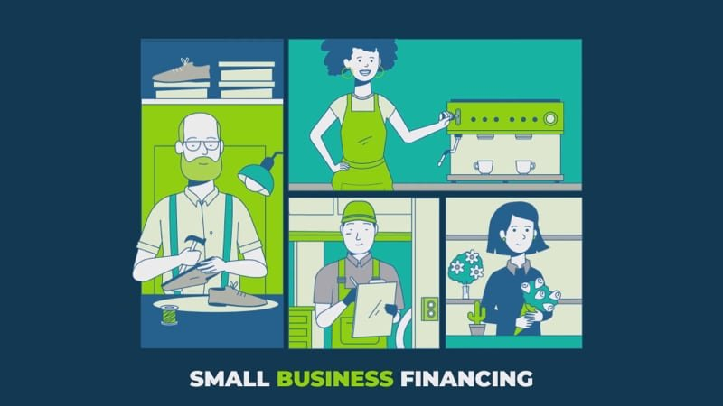 Small business financing illustration.
