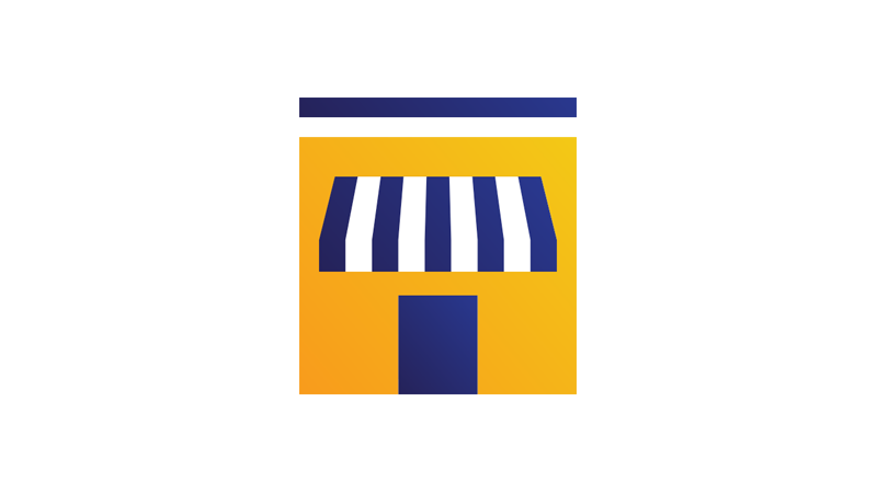 Illustration: small business store front.