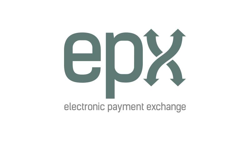 Epx logo with subheading Electronic Payment Exchange under it.