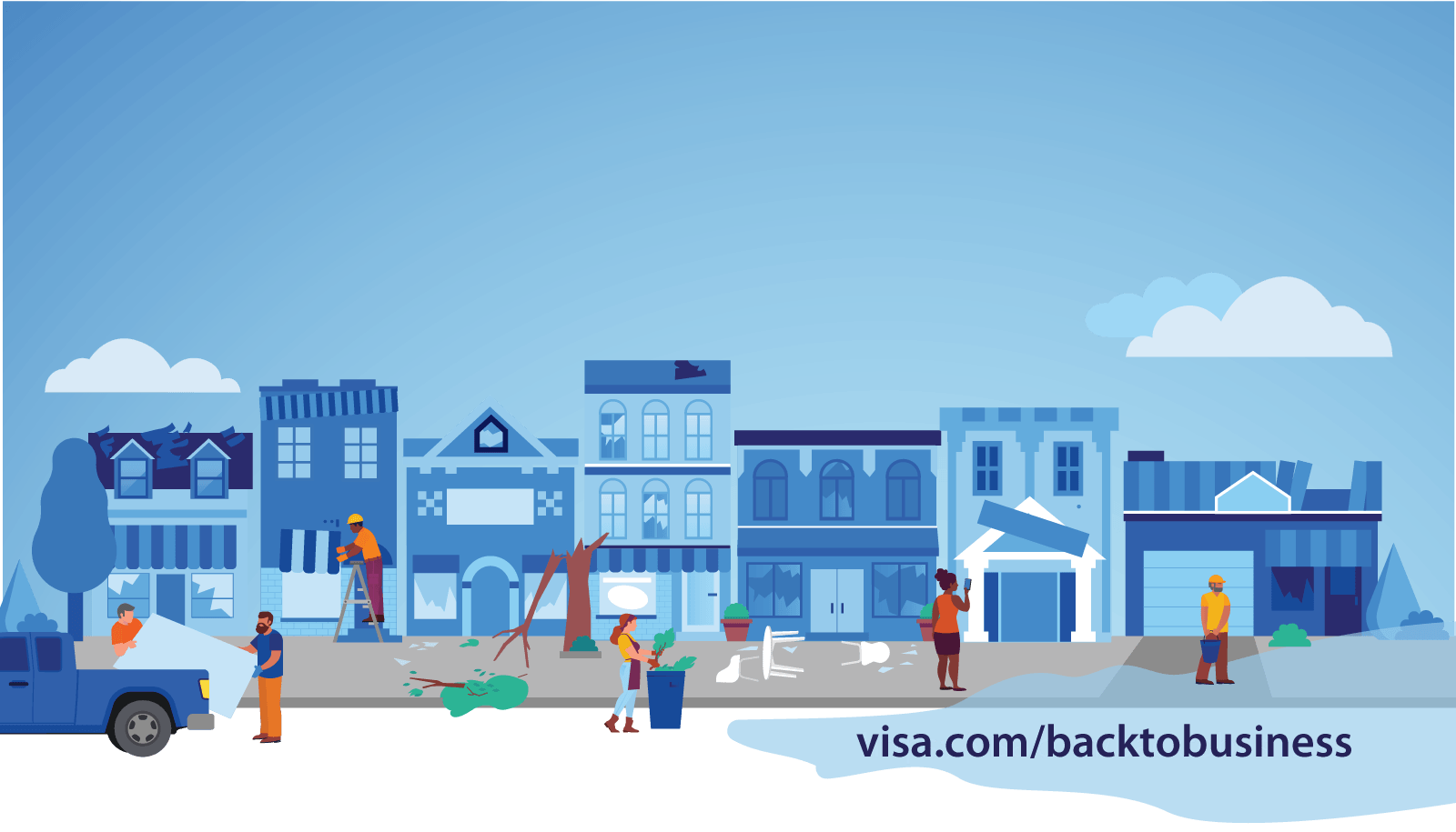 visa back to business infographic