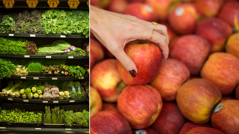 image of apples and grocery