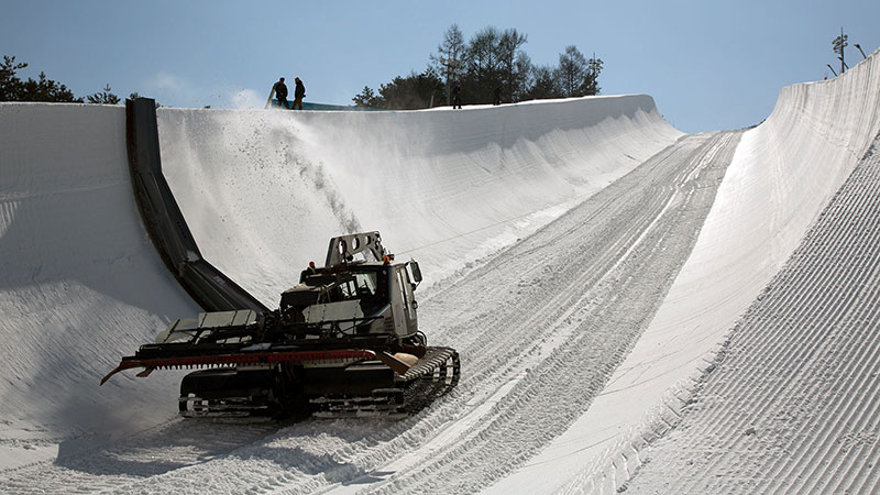 Making of a halfpipe