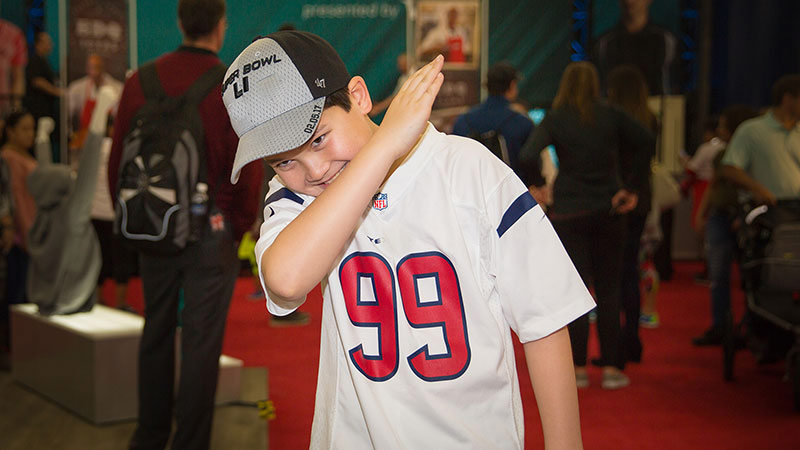 Dab moves at the NFL Shop