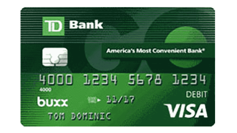 A Buxx TD Bank Visa Debit Card.