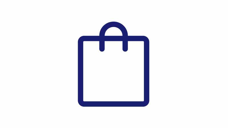 An illustration of a shopping bag.