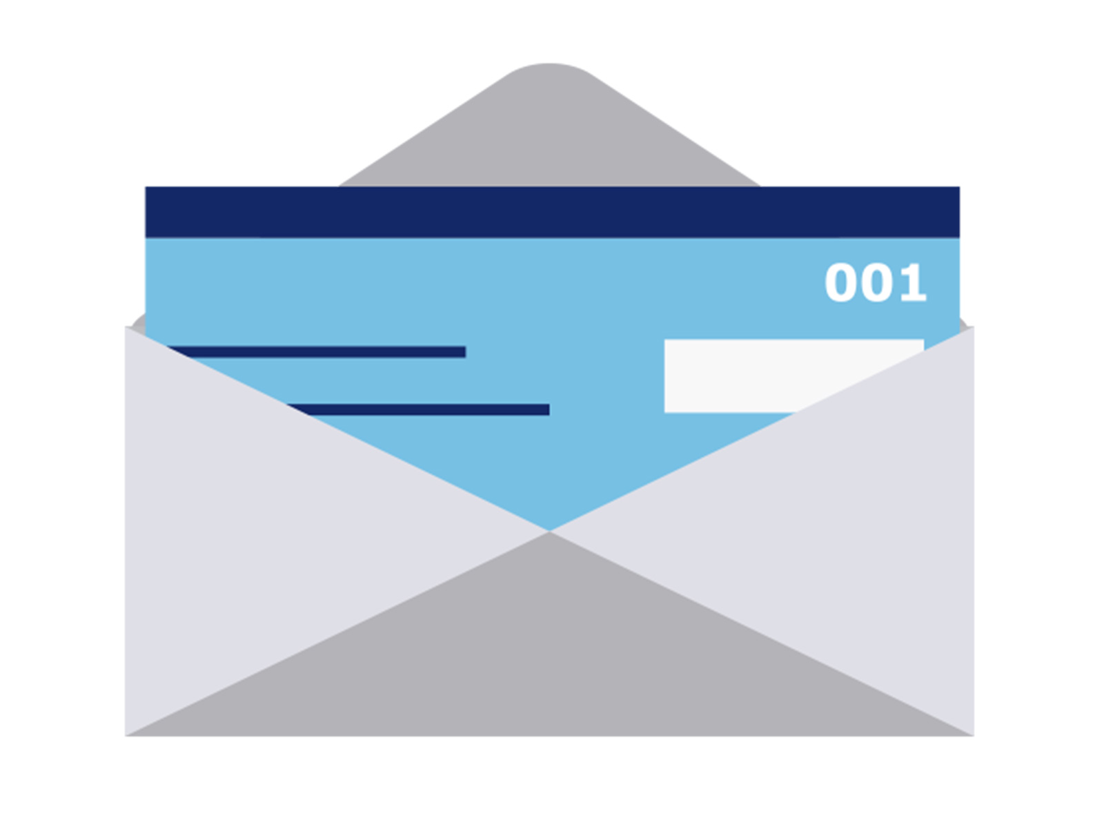 open envelope with check