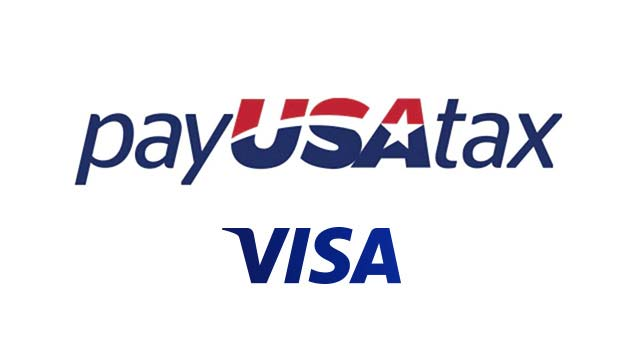 Pay U.S.A. tax and Visa logos.