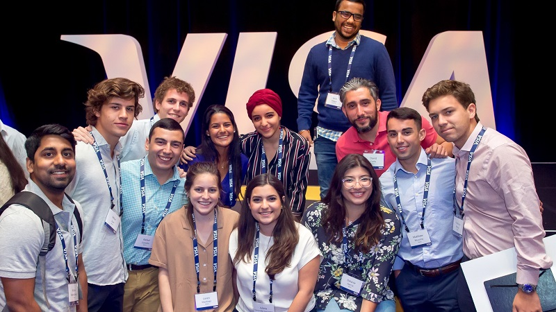 visa interns at the summit