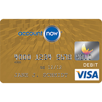 AccountNow Gold Visa® Prepaid Card